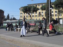 Автобусная остановка в Рим стоковые фотографии rf