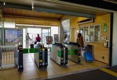 Автоматические барьеры билета управления доступом стоковая фотография rf