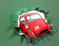Автомобиль перемещения дороги свободы ведущих шайб пропуска теста водителя учащийся стоковые фото