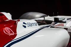 Автомобиль формулы 1 Romeo Sauber альфы стоковая фотография rf