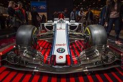 Автомобиль формулы 1 Romeo Sauber альфы стоковое фото