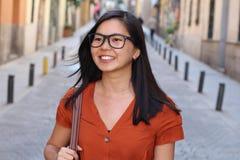 азиатская женщина города стоковое фото