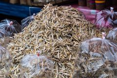 Азиатский рынок около Vang Vieng в Лаосе, Азии стоковое фото rf