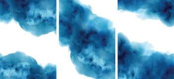 Аквамарин конспекта акварели, предпосылка, иллюстрация вектора текстуры watercolour голубая иллюстрация вектора