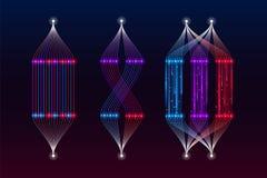 Алгоритм машинного обучения, большое визуализирование данных стоковое фото rf