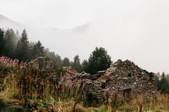 Альпинизм Gran Paradiso стоковые изображения rf