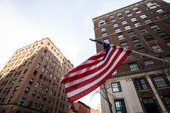американский флаг New York стоковая фотография rf