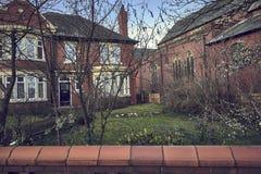английские дома типичные стоковая фотография