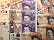 английские фунты предпосылки стоковая фотография rf