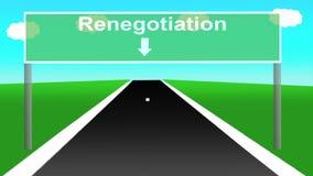 Анимация вариантов Brexit как дорожный знак шоссе иллюстрация штока