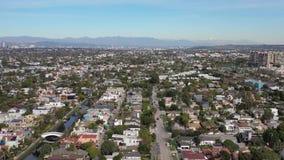 антенна ЛА Лос-Анджелеса Калифорния пляжа 4K Венеции сток-видео