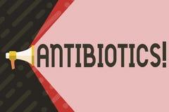 Антибиотики сочинительства текста почерка Лекарство смысла концепции используемое в обработке и предохранении бактериальных инфек бесплатная иллюстрация