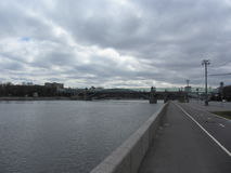 Андреевский мост в г.Москва, Россия / Andreevsky bridge in Moscow, Russia Royalty Free Stock Photo