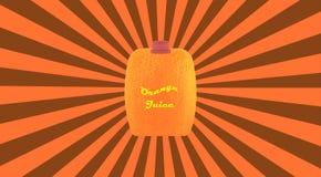 Апельсин на ретро предпосылке стоковое фото rf