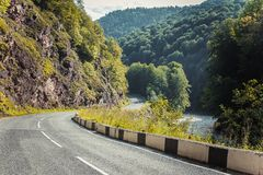 Asphalt road in the Mountain royalty free stock photos