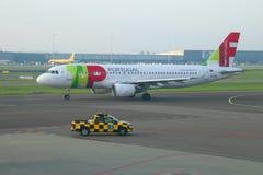 Аэробус A320-214 CS-TNL КРАНА - авиакомпании Air Portugal стоковое фото rf