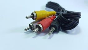 Аудио кабель, видео- на сетноом-аналогов телевидении стоковое изображение