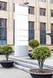 Афиша большого пробела на открытом воздухе вертикальная с белым космосом экземпляра для добавления множественных названий фирмы и стоковая фотография