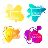Set of colorful elements, gradient abstract. stock illustration