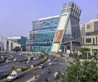 Архитектура города/Cyberhub кибер в Gurgaon, Нью-Дели, Индии стоковое фото rf