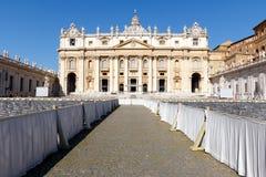 Базилика St Peter, государство Ватикан, Рим, Италия стоковые фото