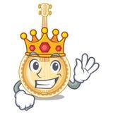 Банджо короля миниатюрное в формах мультфильма иллюстрация штока