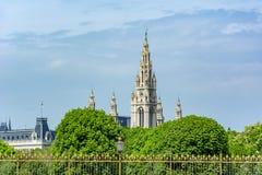 Башни городской ратуши Вены, Австрия стоковая фотография