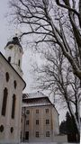 Башня церков назначения паломника wieskirche баварского стоковое фото rf