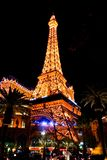 Башня Eifel Вегас загорелась стоковое изображение