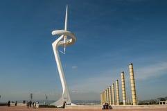 Башня Telefonica, Montjuic, Барселона, Каталония, Испания стоковая фотография