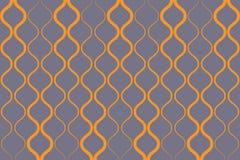 Безшовная, абстрактная картина предпосылки сделанная с curvy желтыми покрашенными линиями иллюстрация вектора