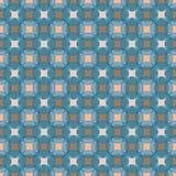 Безшовная абстрактная ретро геометрическая картина Смешанные круги, прямоугольники и овалы в вертикальном плане иллюстрация штока