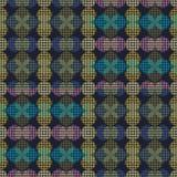 Безшовная абстрактная ретро геометрическая картина Смешанные круг и овалы в вертикальном плане бесплатная иллюстрация