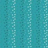 Безшовная голубая предпосылка с пальмами и кругами иллюстрация штока