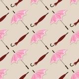Безшовная картина с винтажными зонтиками - иллюстрация вектора, eps бесплатная иллюстрация