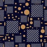 Безшовная картина с изображением бежевых и белых геометрических форм стоковые изображения