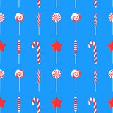 Безшовная картина с тросточками конфеты Искусство можно использовать для обоев, плаката, открытки, паковать праздника бесплатная иллюстрация