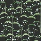 Безшовная картина с цветками и листьями акварели бесплатная иллюстрация