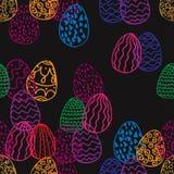 Безшовная текстура пасхальных яя иллюстрация штока