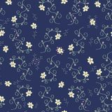 Plants, berries and flowers - Handdrawn seamless pattern royalty free illustration