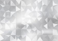 Белая и серая предпосылка Геометрический стиль Сетка треугольников, картина мозаики для вашего дизайна иллюстрация штока