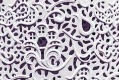 Белая пластмасса текстуры шнурка предпосылка для дизайна и украшения стоковое фото