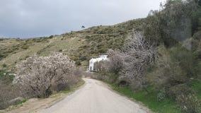 Белый Дом на горном склоне стоковые фото