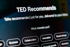 Беседы Тед порекомендовали стоковое изображение rf