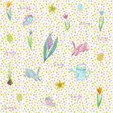 Бесконечная текстура для дизайна весны, украшения, поздравительных открыток иллюстрация вектора