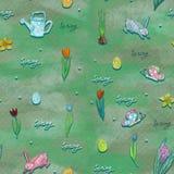 Бесконечная текстура для дизайна весны, украшения, поздравительных открыток иллюстрация штока