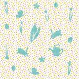 Бесконечная текстура для дизайна весны, украшения, поздравительных открыток стоковое фото
