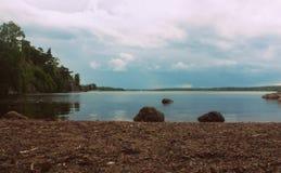 берег бухты Выборгского залива Stock Image