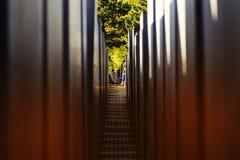Берлин, Германия, мемориал, жертвы холокоста, туристы, архитектура, искусство, блок, Европа, фашизм, музей стоковое изображение