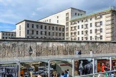 Берлин, Германия, топография центра документации террора стоковые изображения rf